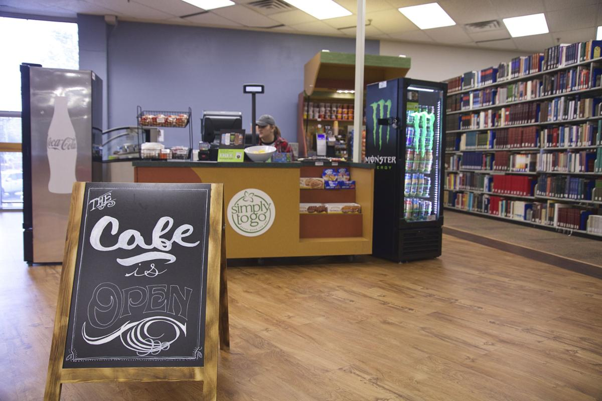 The new cafe at The William G. Squires Library.  Photo by John David Clark