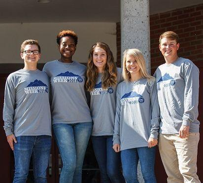 As this year's Missions Weeks partnered with The Smoky Mountain Children's Home, t-shirts were sold to raise money for the organization's remodeling of an Educational Learning Center.  Courtesy of Lee University Office of Public Relations.
