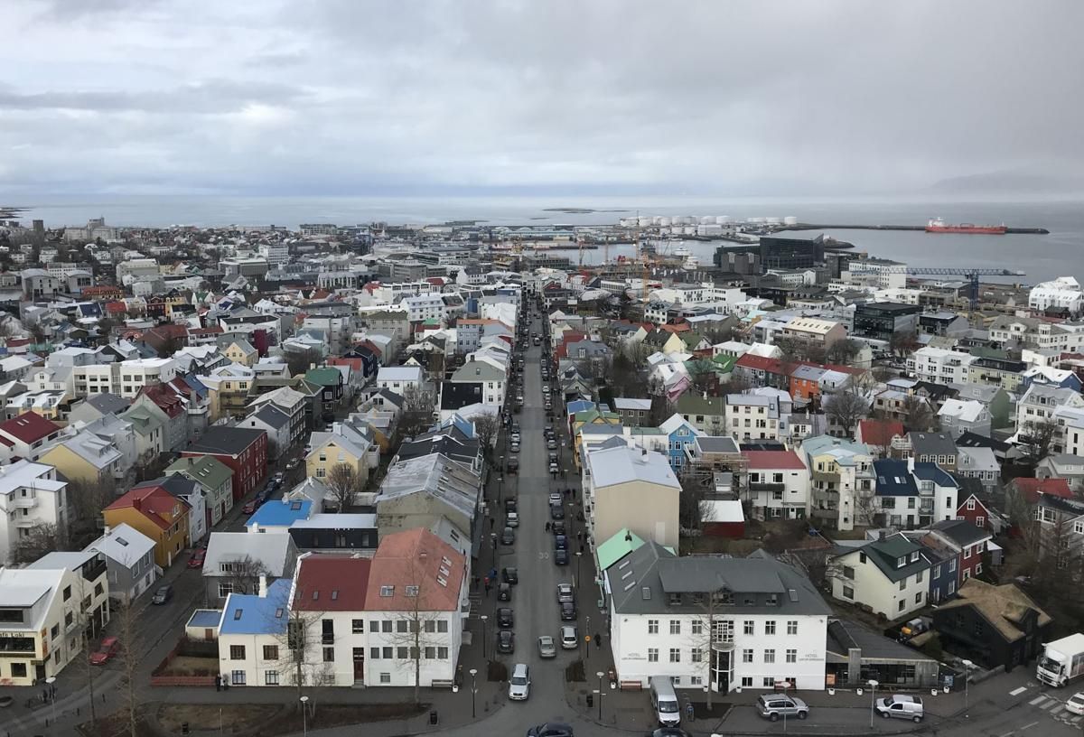 View of city center in Reykjavik, Iceland  Courtesy of Tyler Puckett