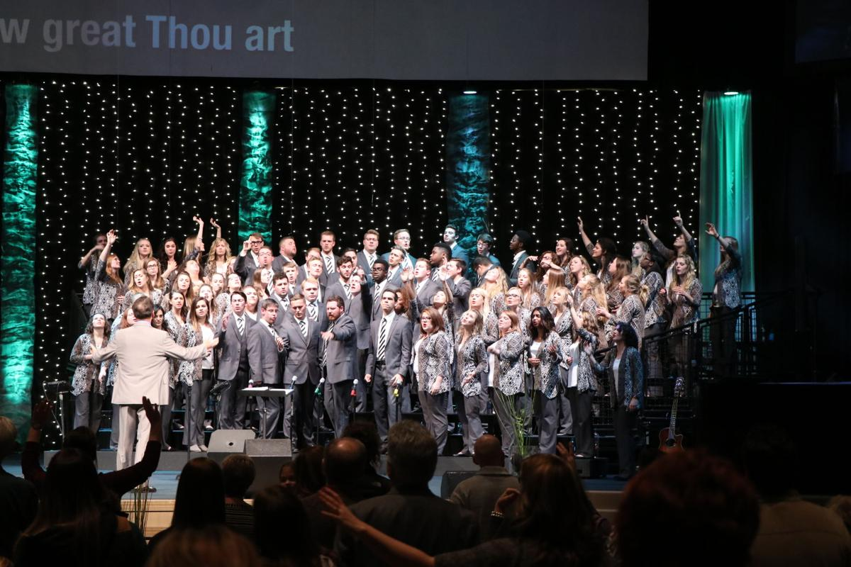 """""""The first motive of this album is ministry, to put this music out as a tool of ministry and evangelism, and a worship CD in hopes that church choirs can use this as a source for choral worship,"""" Campus Choir director Jimmy Phillips said.  Courtesy of Aaron Campbell, Campus Choir Photographer"""