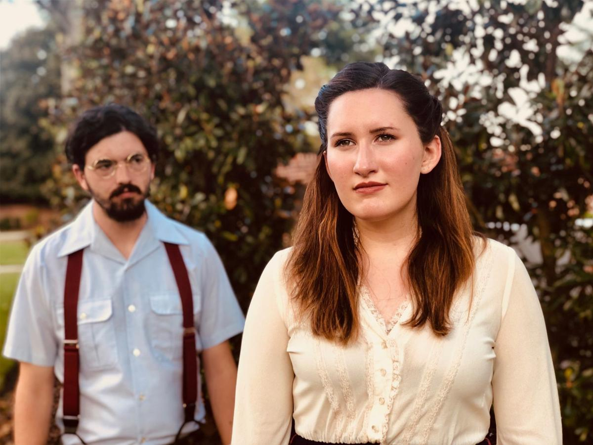 Scott Rust and Emma Riley (pictured) play the two characters of Talley's Folly, a student-directed production premiering Friday, Sept. 28.  Courtesy of Zac Beatty