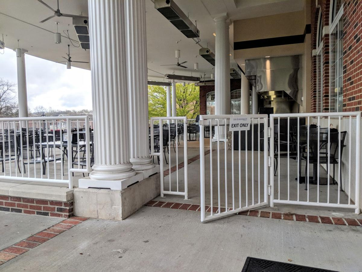 This gate, an open entrance to the Deacon Jones Dining Hall, is being used by students every day to access meals -- without paying.  Photo by Emma Ayers