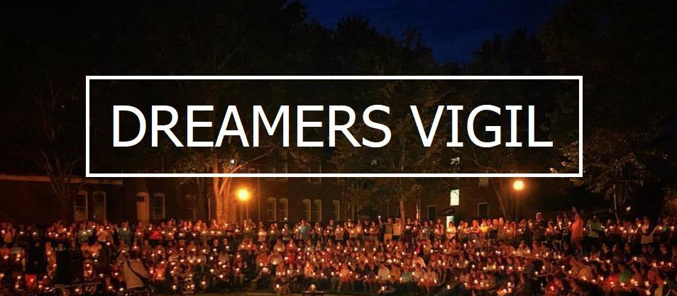 """""""It is urgent that we, as the body of Christ, join together in solidarity,"""" Associate professor of intercultural studies Dr. Rolando Cuellar said at the candlelight vigil held in support of DACA on Feb. 18. """"If you are a follower of Jesus Christ, no one is ever to be considered an outsider.""""  Courtesy of Lee University's Restorative Justice Council"""