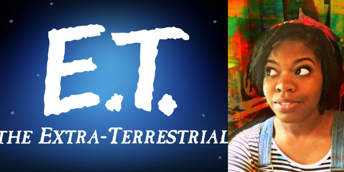 Kayla's Pick for this week? The 1982 blockbuster film E.T.  Design by Emma Ayers