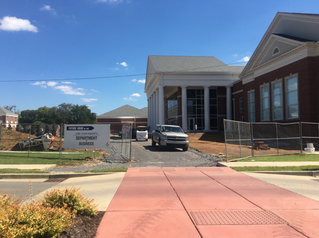 The business building is currently under construction as the projected completion date draws closer.  Courtesy of Madison Penrose