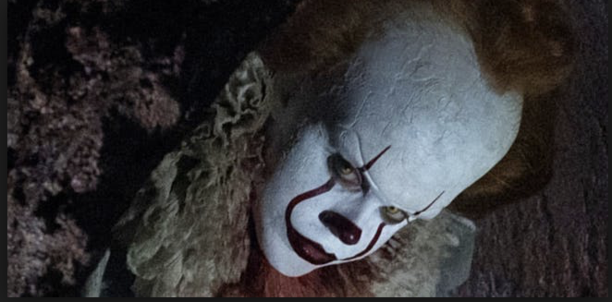 "Bill Skarsgård plays Pennywise the Clown in the newly-released horror film ""It.""  Courtesy of Inverse.com"