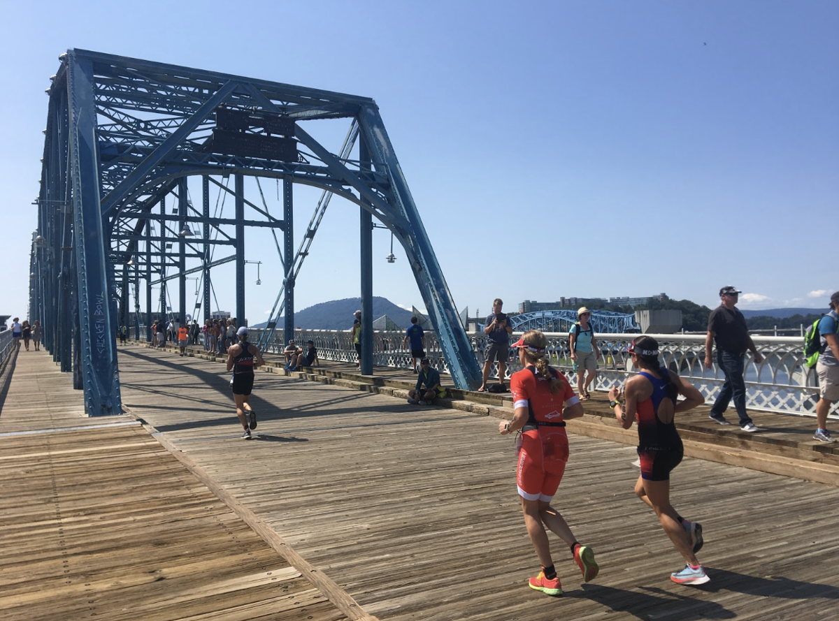 Thousands of runners gathered in Chattanooga to participate in the world-renowned Ironman triathlon.  Photo by Kenzie Holton