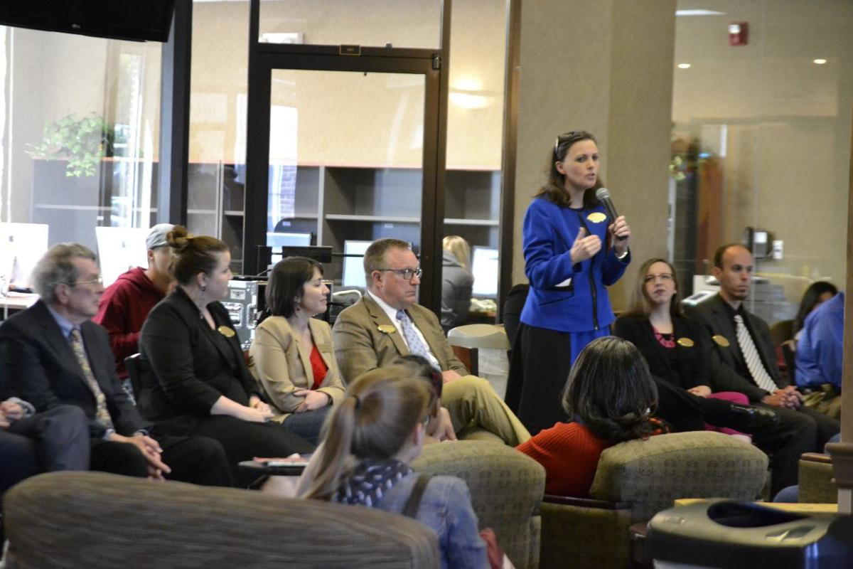Parents and prospective students were invited to ask questions of Lee University staff members.