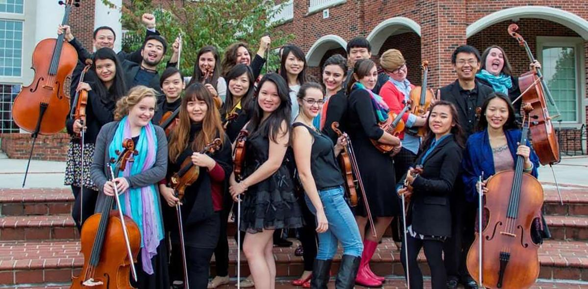 The Lee University Chamber Strings in the spring of 2016.  Photo courtesy of Lee University