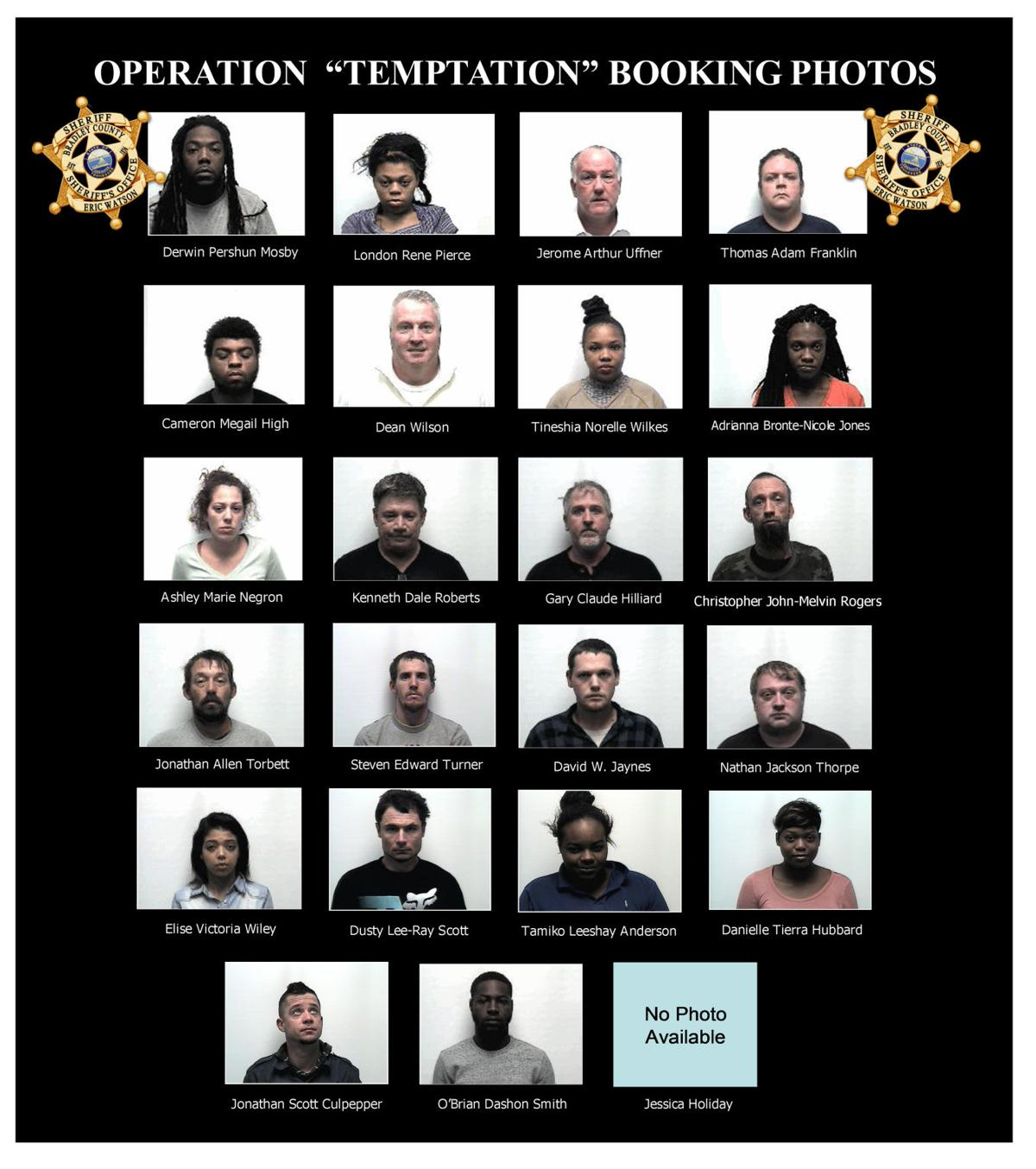 Operation Temptation booking photos  Source: Bradley County Sheriff's Office