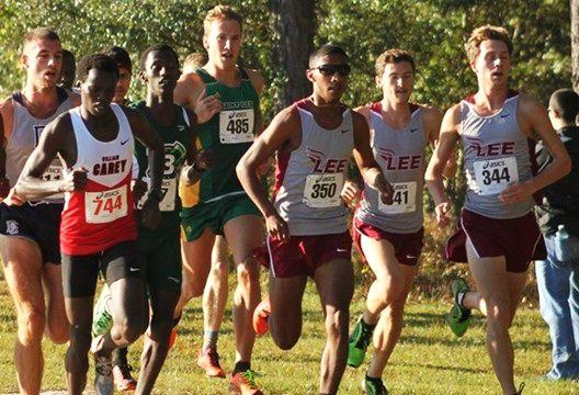 Harold Smith runs in front of the pack (350).Photo courtesy of Harold Smith