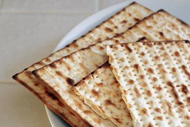 Matzah, unleavened bread served at the Seder meal (Photo: Nancy R. Cohen/Photodisc/Getty Images)