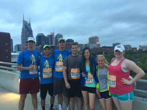 Last year's half marathon training class on race day (Photo: Contributed)