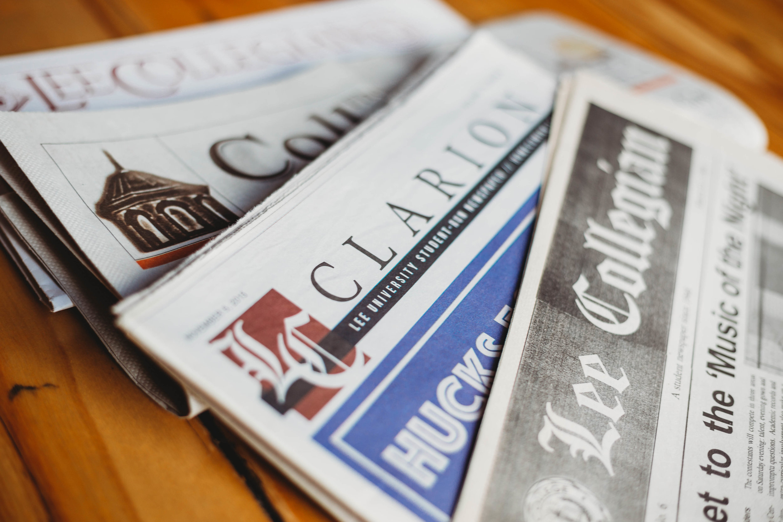 """- Following the school's move to Cleveland, the paper was renamed """"The Clarion"""" before changing to a monthly magazine format titled """"Omnibus"""" in the 1980s. The journal was again renamed the """"Lee Collegian"""" in 1986 and later returned to the traditional name """"The Lee Clarion"""" in spring 2004."""
