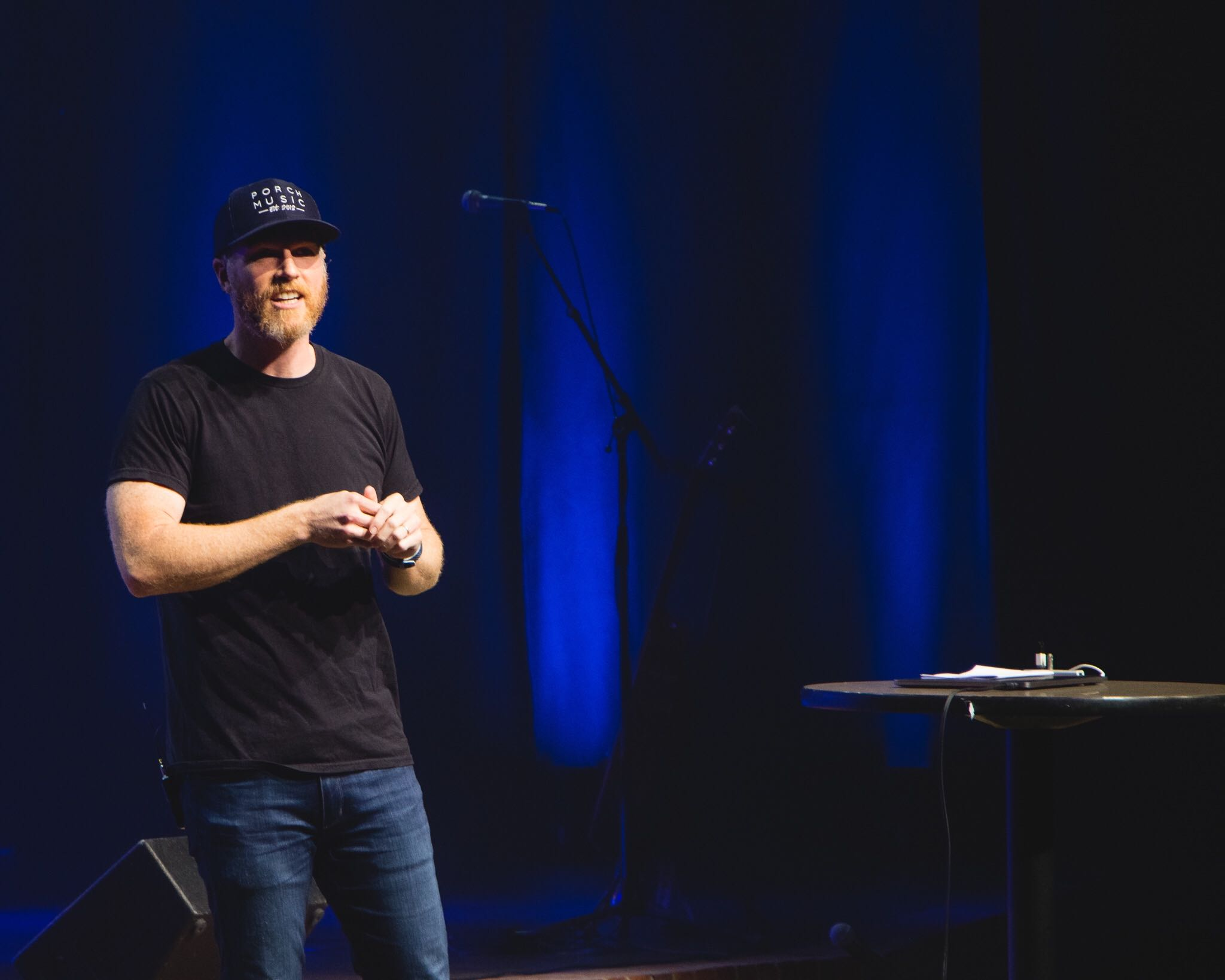 Nathan Chapman, a Lee alumnus and Grammy award-winning record producer, visted his alma mater on Tuesday to speak at chapel about his experience at Lee. Photo by Taylor Baker, Photo Editor.