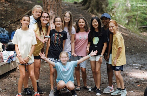 Stephanie Little and her campers. Photo courtesy of Stephanie Little.