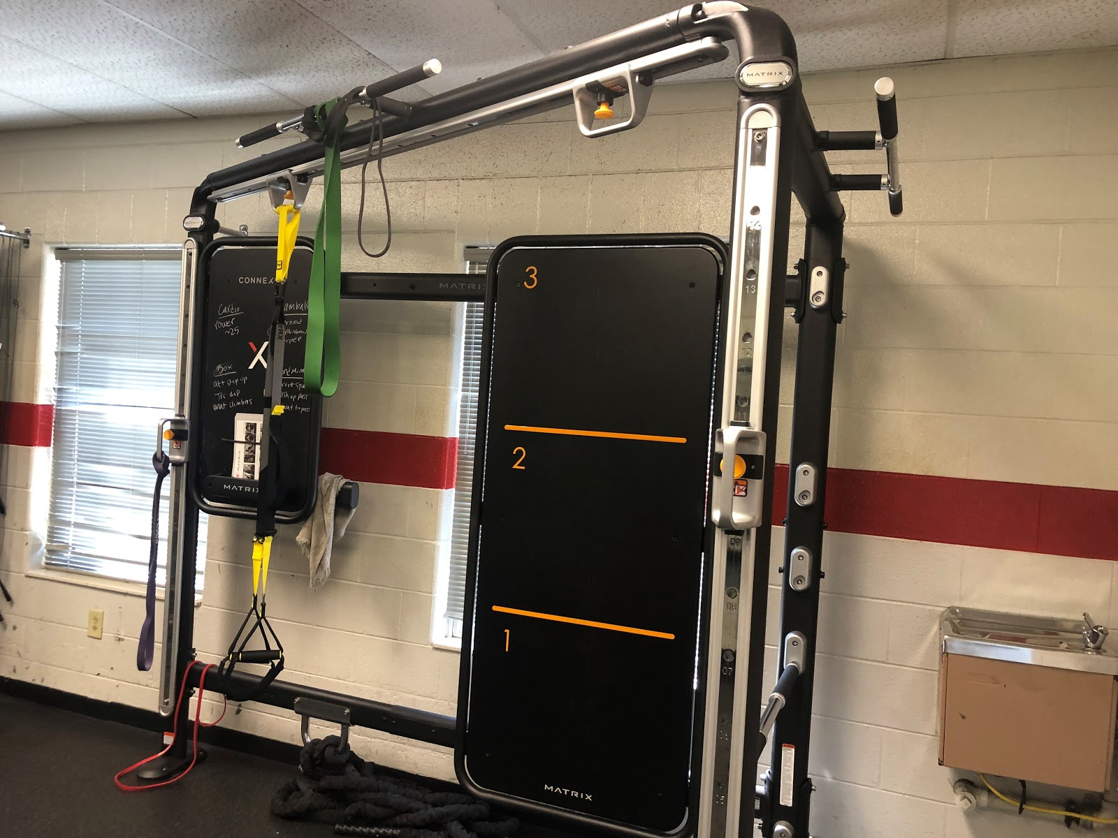New equipment for the new MX4 personal training program was set up earlier this semester. Photo by Amy Harrison.
