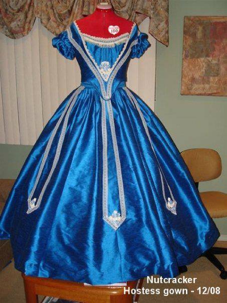 Party guest gown  Authentic Victorian Ball Gown