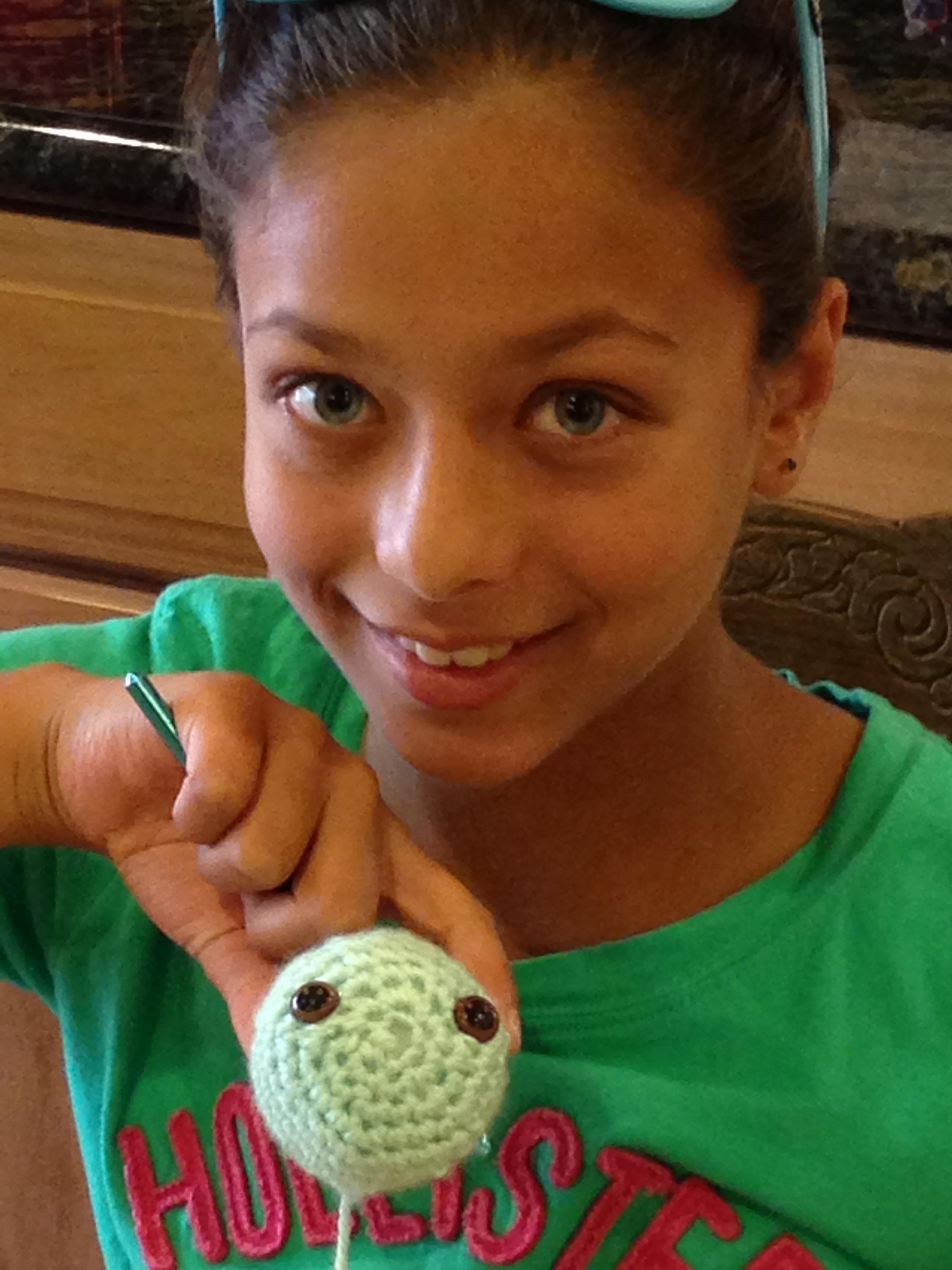 Crochet Amigurumi Panda Bear Head by 10 Year Old