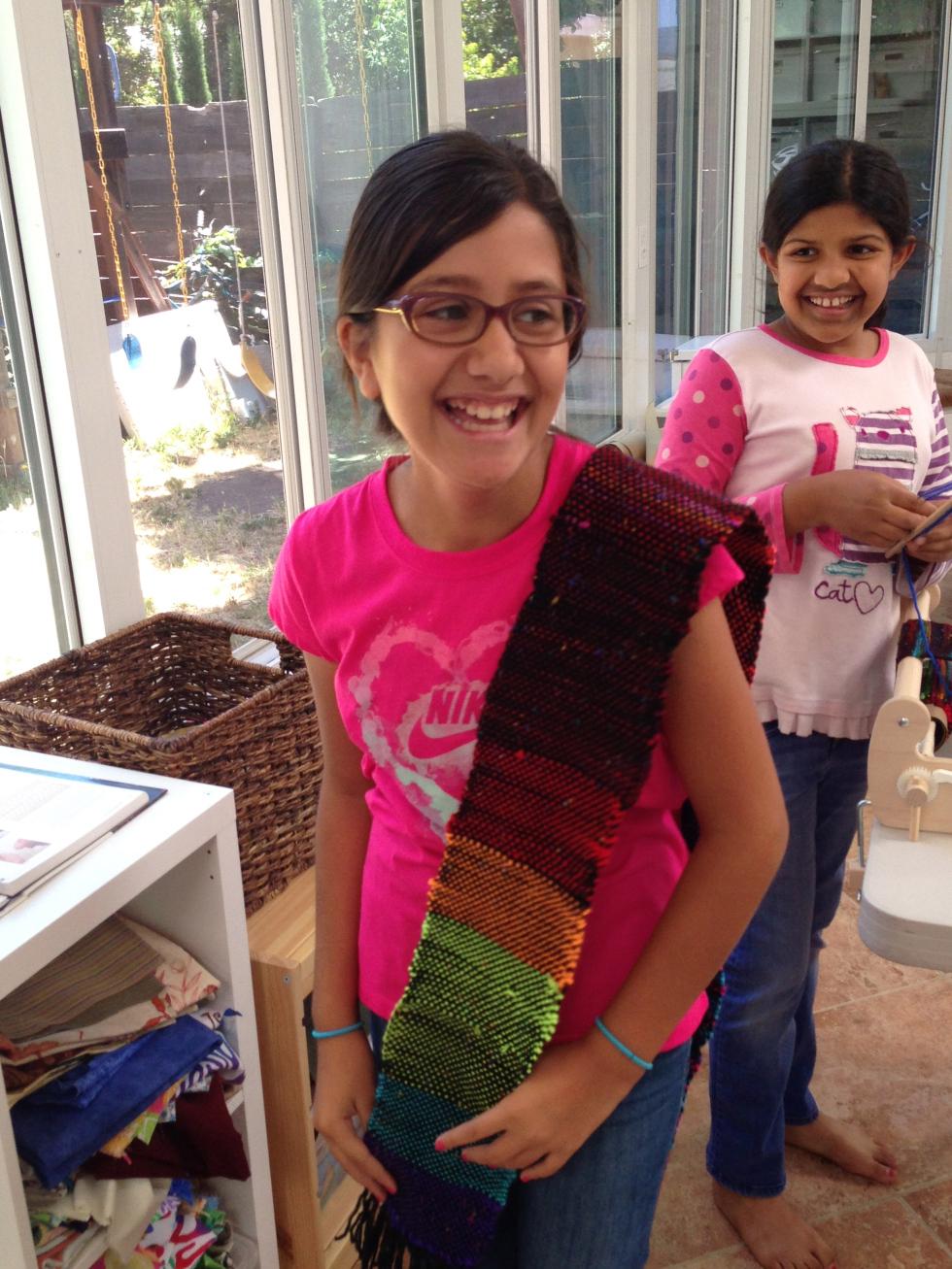 5th grader Beautiful scarf finish