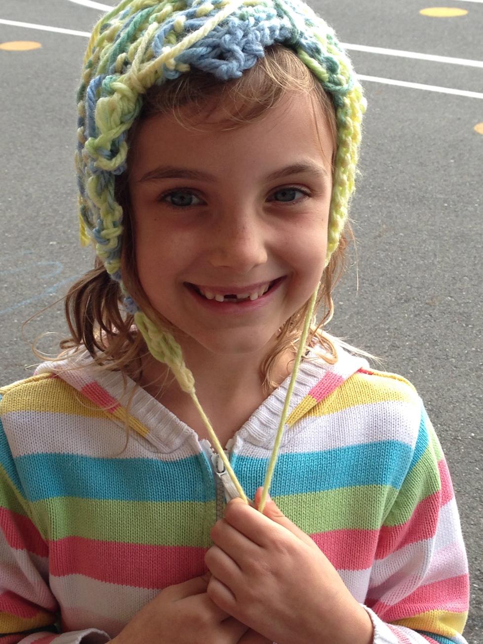 2nd grade finished knitting project.