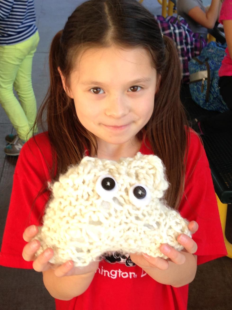 2nd grade Stuffed monster complete!