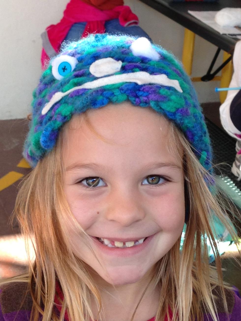 2nd grader - It's a monster hat!