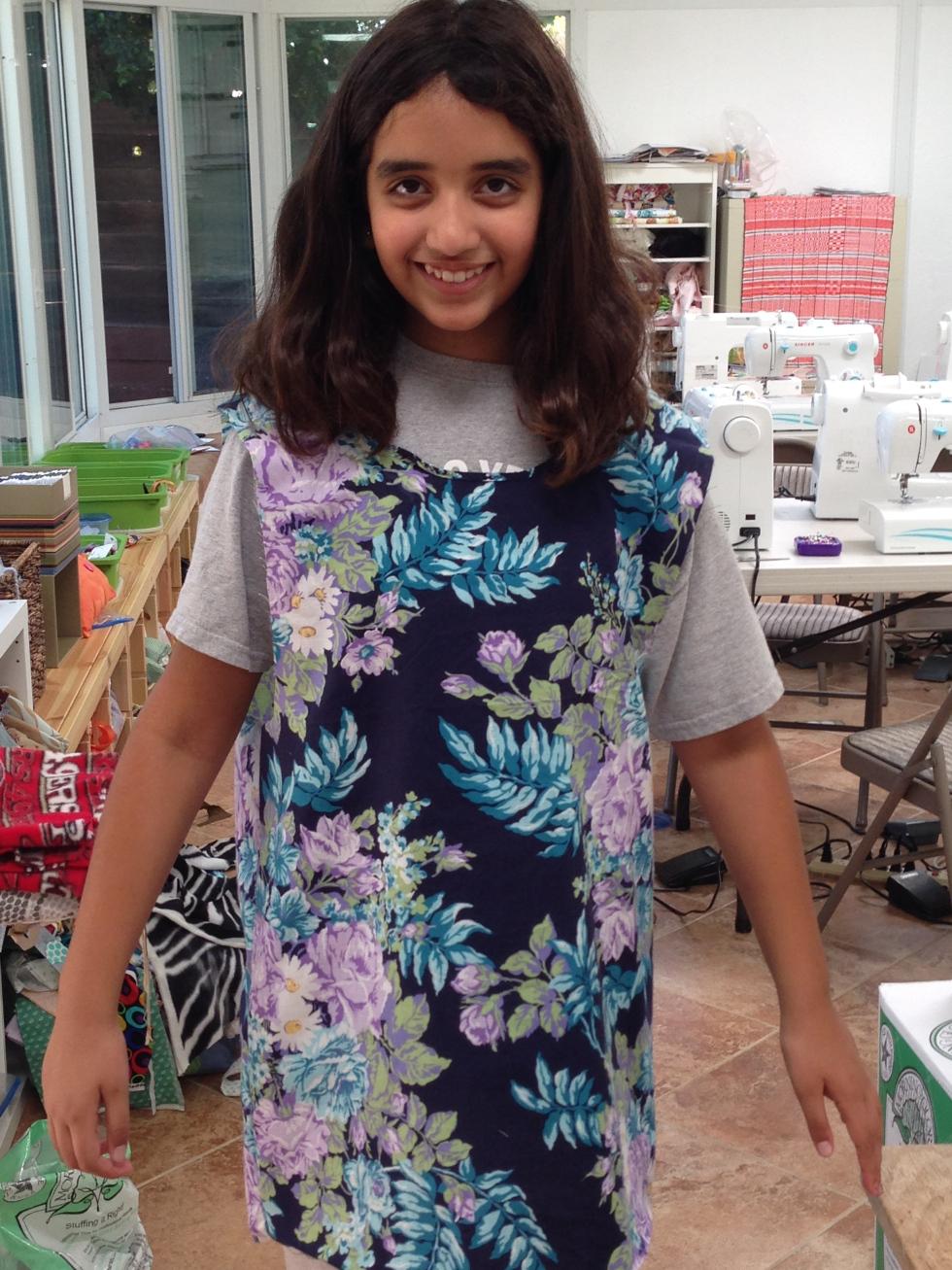 6th grader self-designed shirt