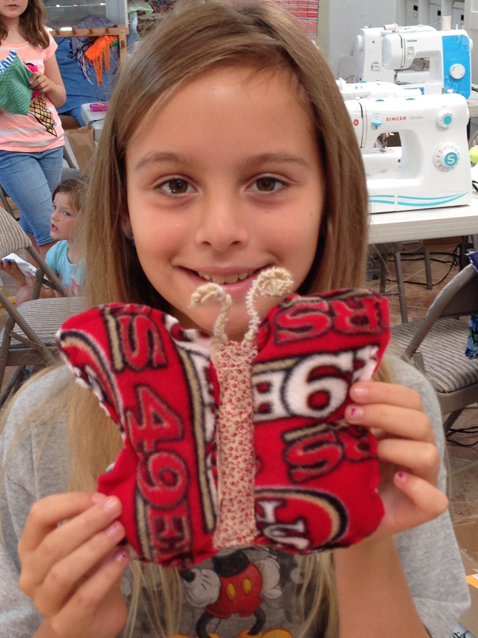 4th grader self-designed butterfly pillow