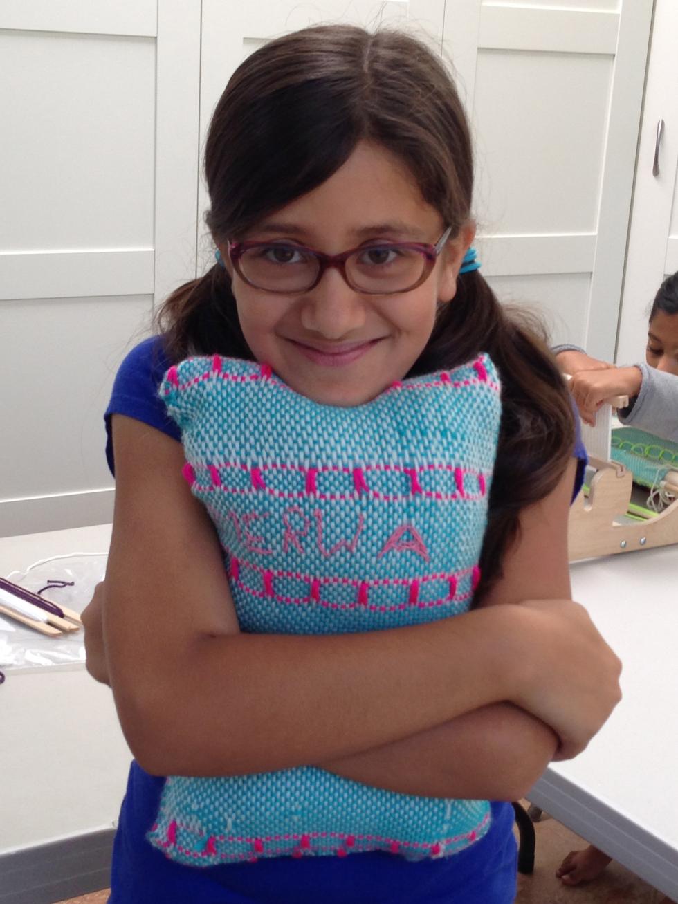 5th grade woven pillow.