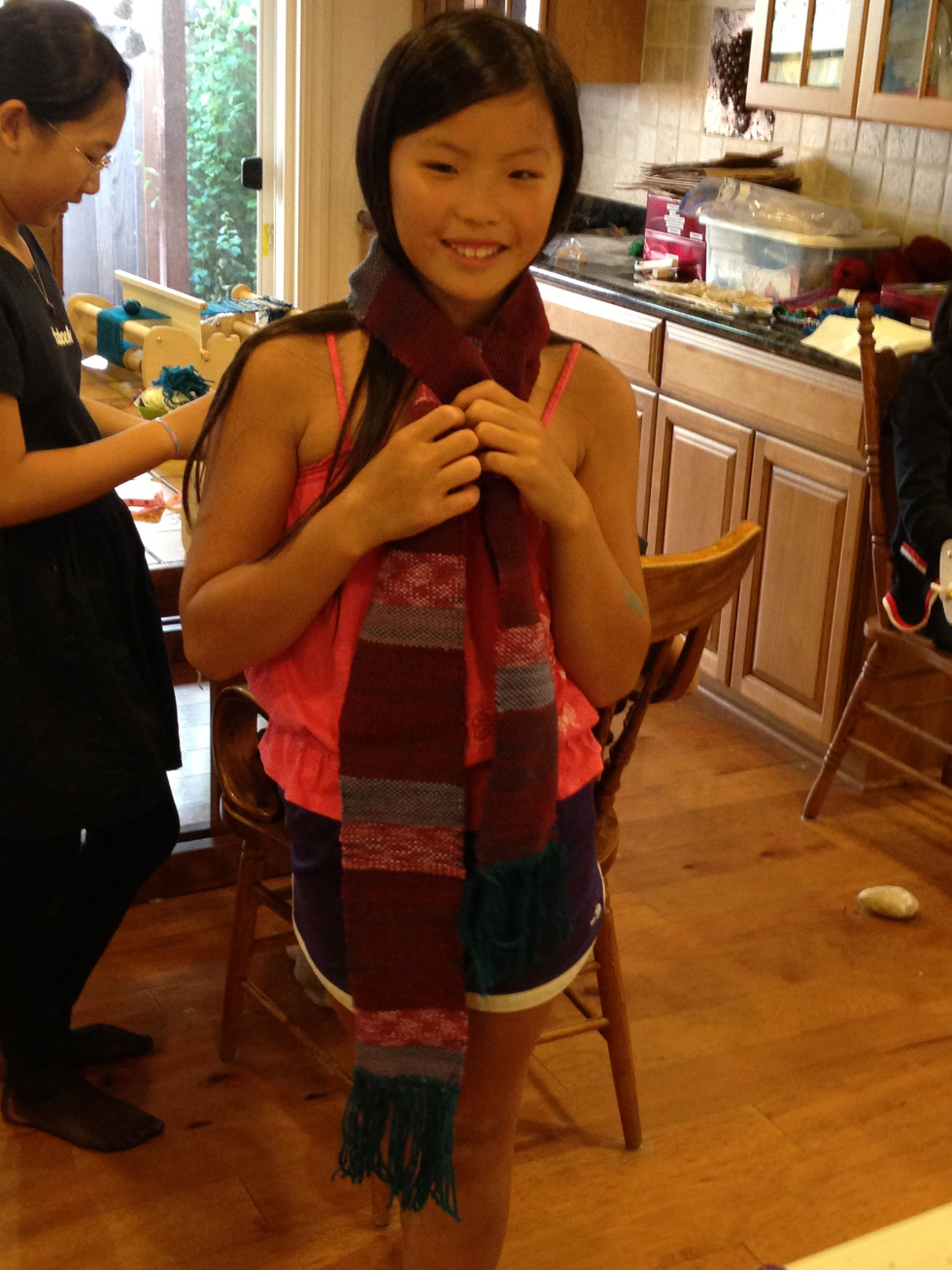 6th grade woven scarf