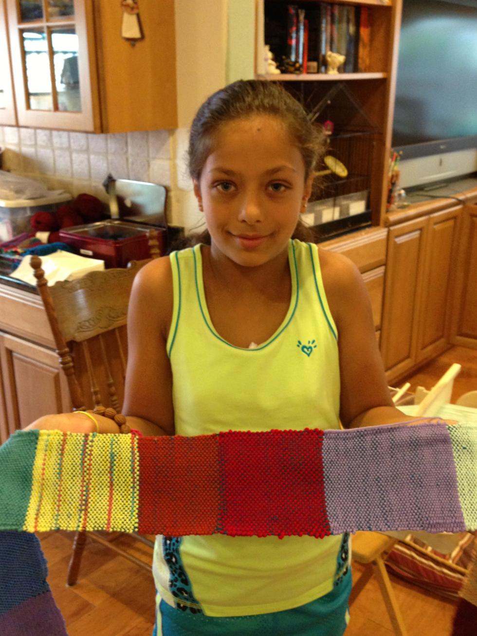 5th grade woven scarf