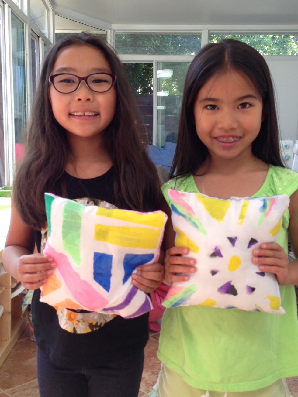2nd and 3rd grader pillows.
