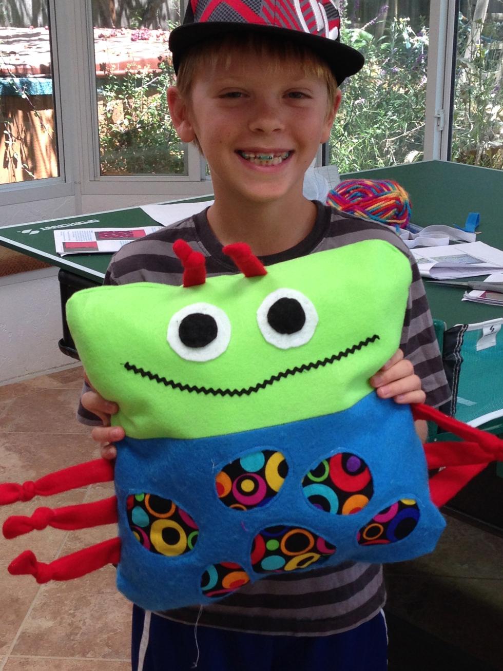 4th grader pillow.