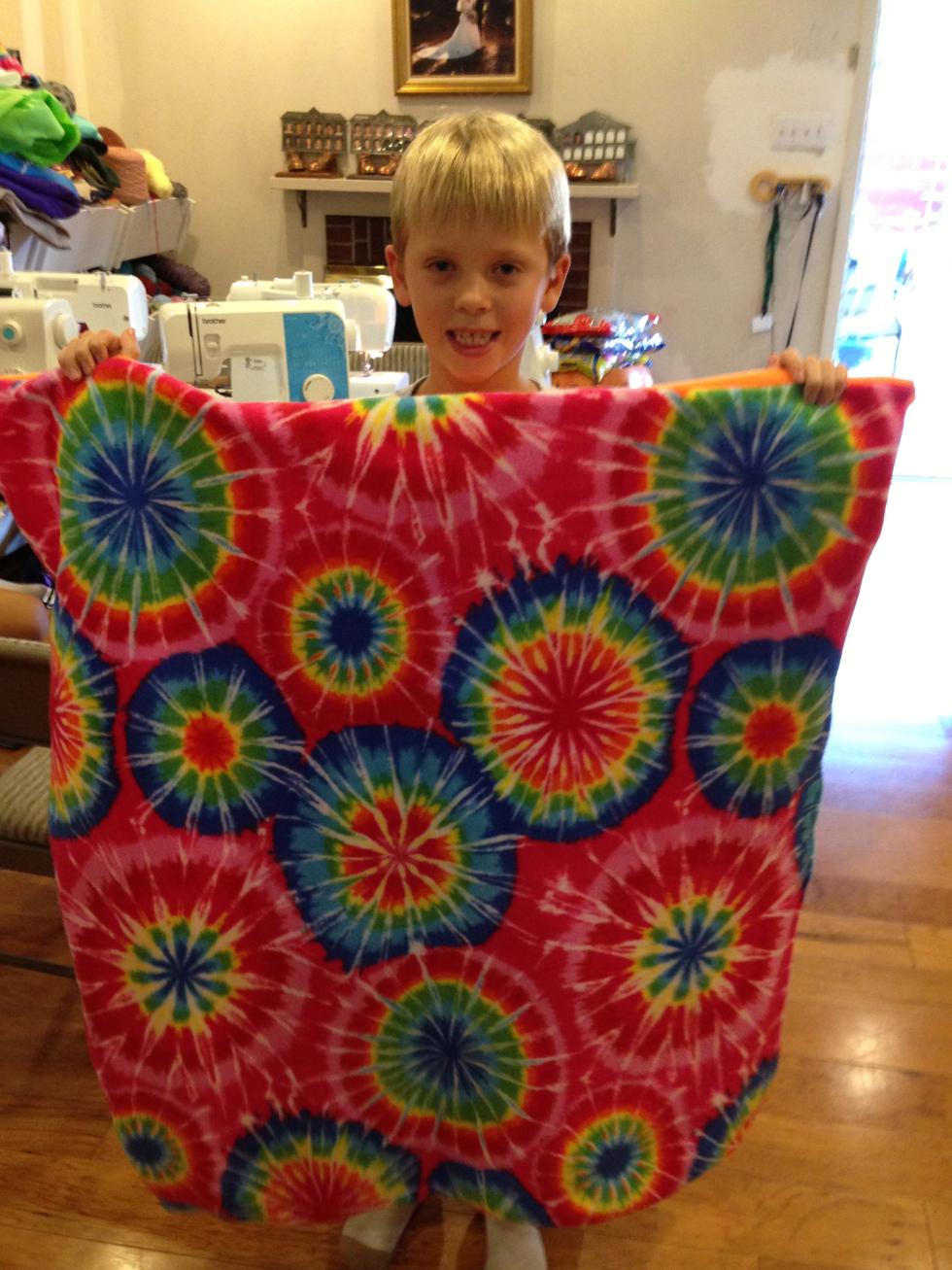 3rd grade fleece blanket.