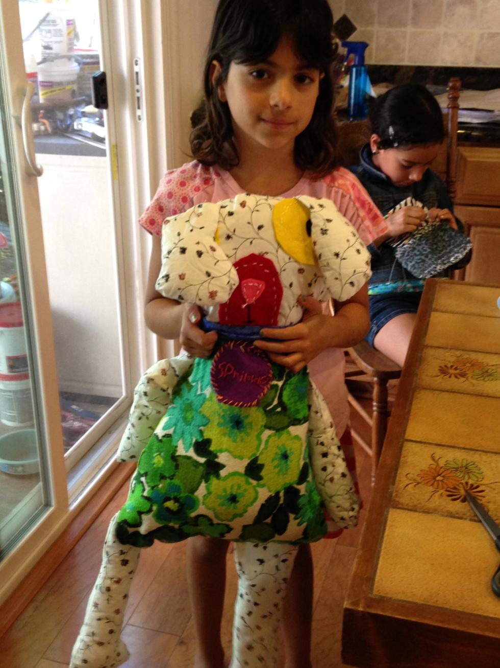 3rd grade stuffed dog.