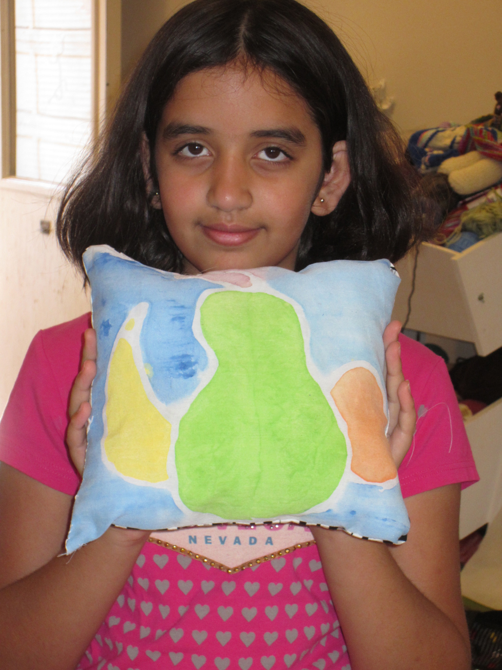 """Still Life"" Batik Pillow"