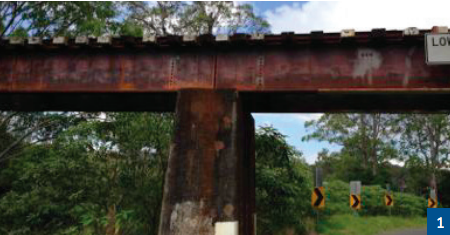 Typical corrosion of the bridge before maintenance.