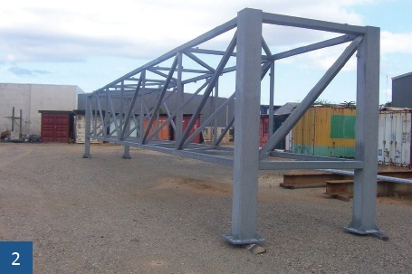 The ZINGA was applied at the contractors yard and transported direct to site.