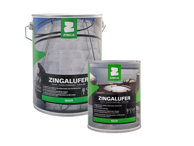 ZINGALUFER - Zingalufer is a moisture curing one pack polyurethane. Micaceous iron oxides (MIO) create the special lamellar structure which create a very tight paint film for optimal barrier protection and corrosion resistance.Zingalufer is used as a sealer on ZINGA, as intermediate coat in a three layer ZINGA system.For more product information click on the data sheet links:TDS Zingalufer