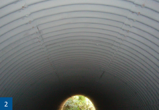The Zinga can provide a 30 year life extension to the culverts.