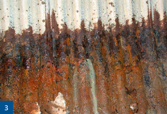 Typical of the corrosion that may cause premature failure.