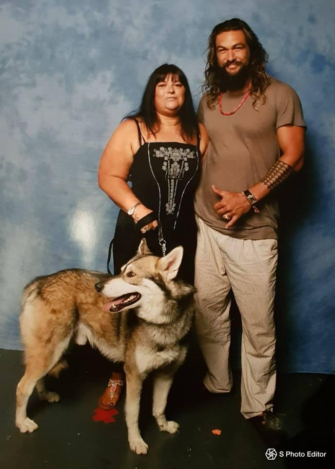 Mum, Jason Mamoa & Drogo.jpg