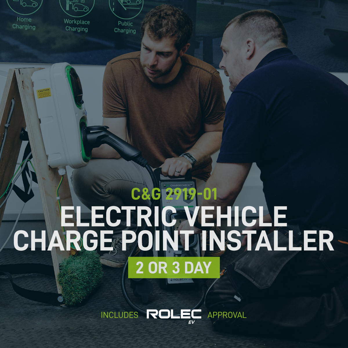 Electric Vehicle Charge Point Installer 2 or 3 Day