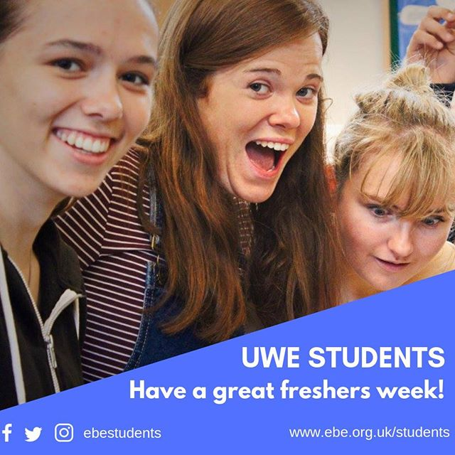 UWE students have a fab freshers week - connect with one of our student team...⠀ #HelloUWEBristol #uwefreshers @uwe_cu