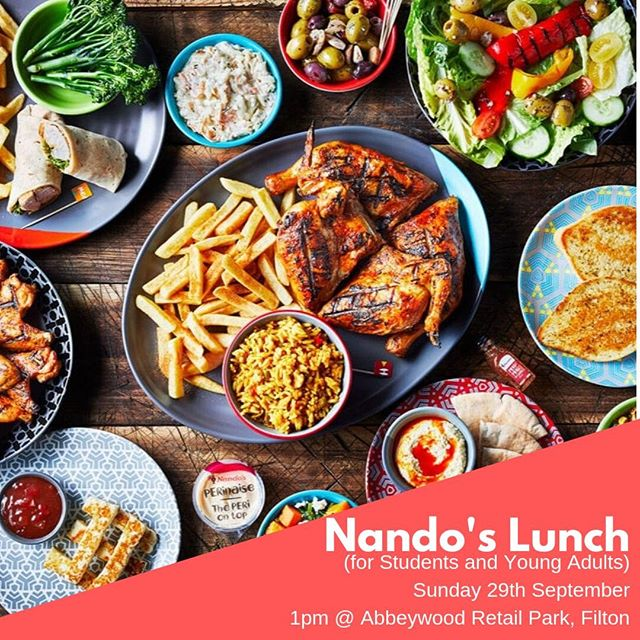 Nando's after church this Sunday!! Let us know if you're coming?
