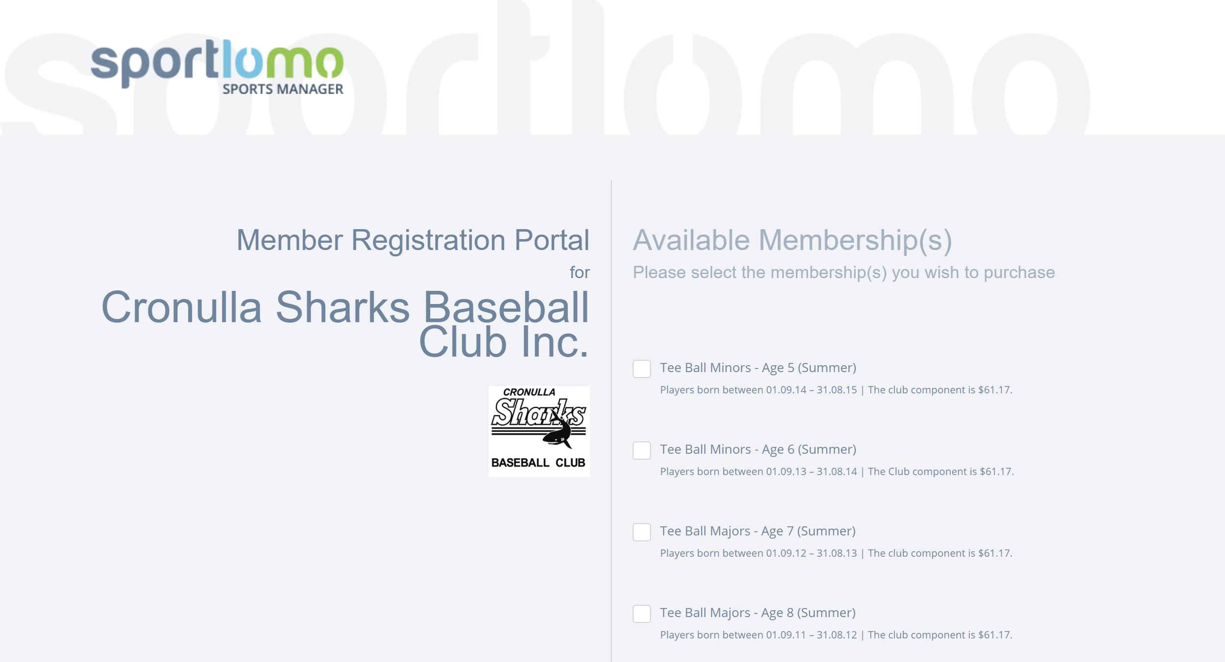 Baseball NSW Registration System