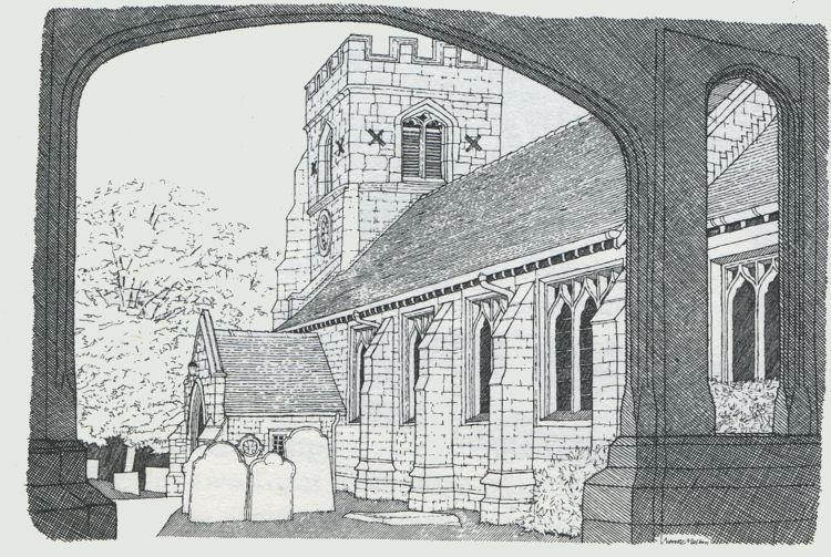 pen drawing by Neville Malkin - July 1975