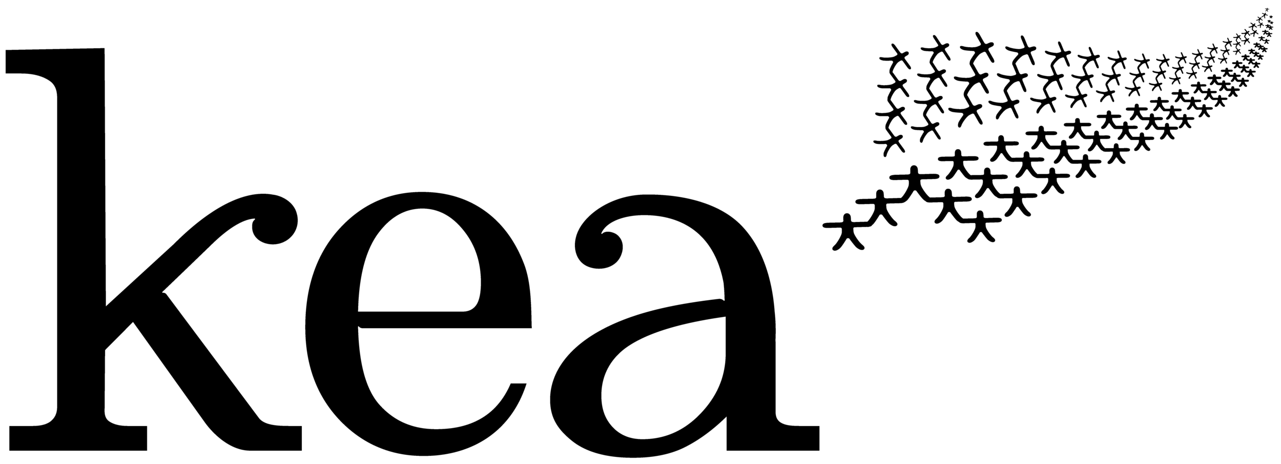Kea Logo Wordless - Black on Clear 4864x1760 px.png