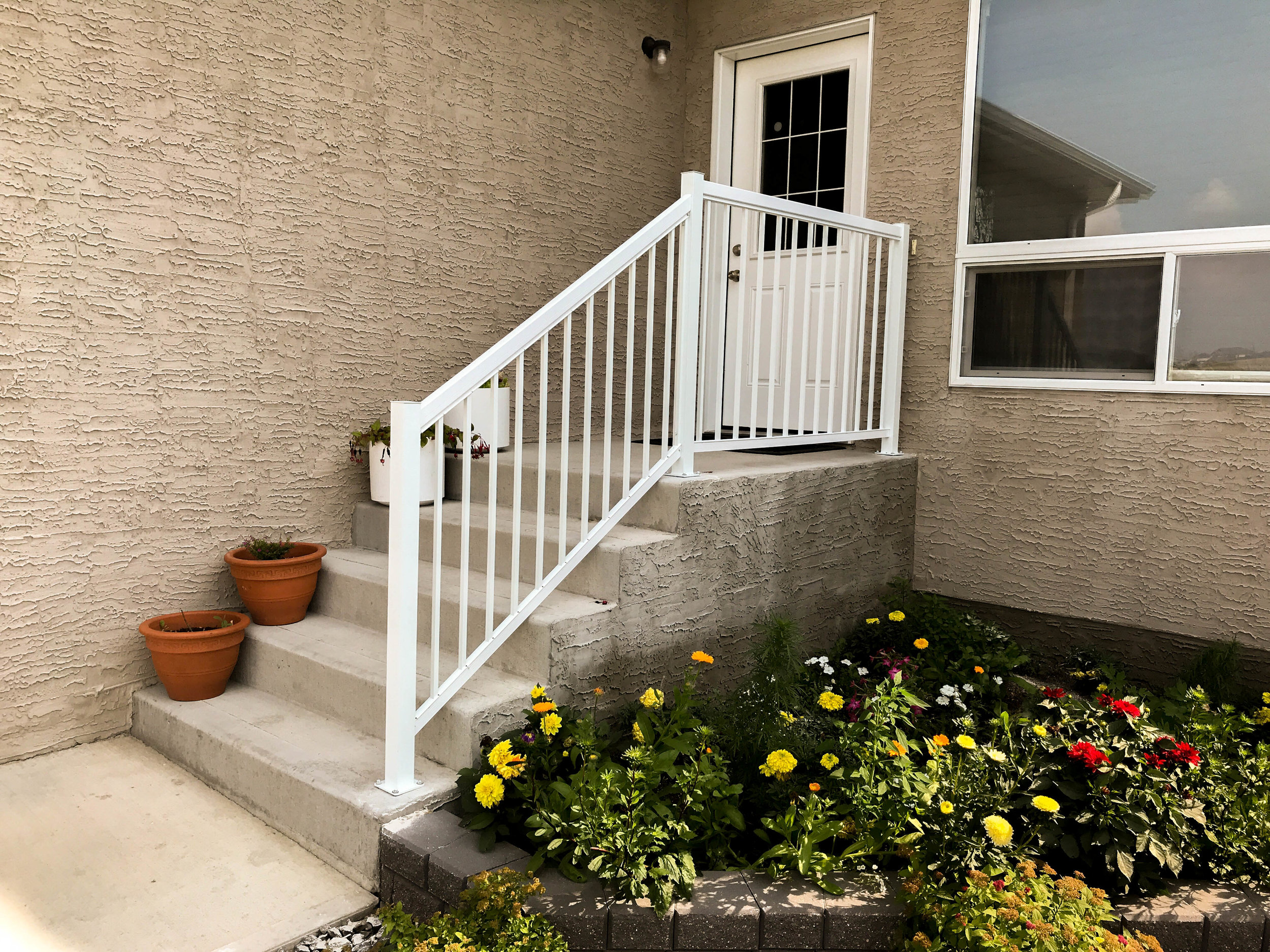 Stair Railing - Most people don't think about stair railings until they need them, but if you've ever had a loved one that needs them you know why they are important.